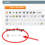 CMS block widget for Product in Magento