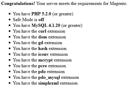 Magento System Requirements