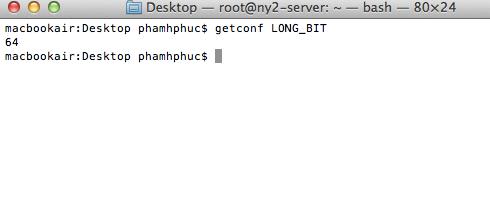 check 32bit or 64bit in mac
