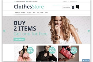 Free Clothes Store Magento Theme 1.9